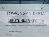 Lowongan Pekerjaan - Operator Forklift (OF)