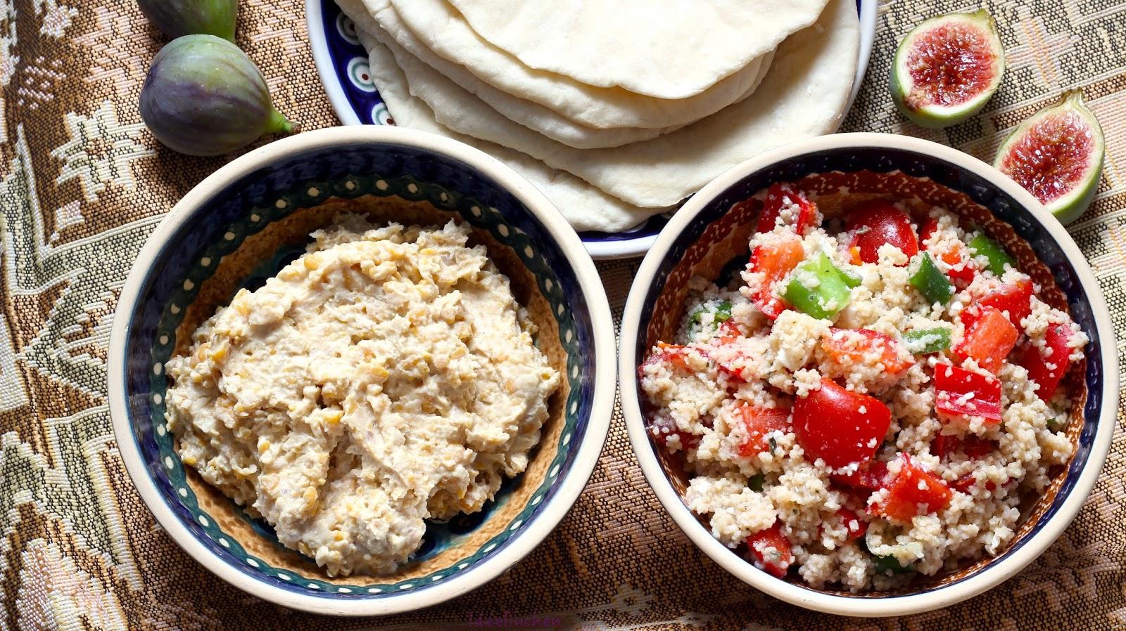 ideelinchen food und kreativblog orientalisches abendessen couscous salat hummus und. Black Bedroom Furniture Sets. Home Design Ideas
