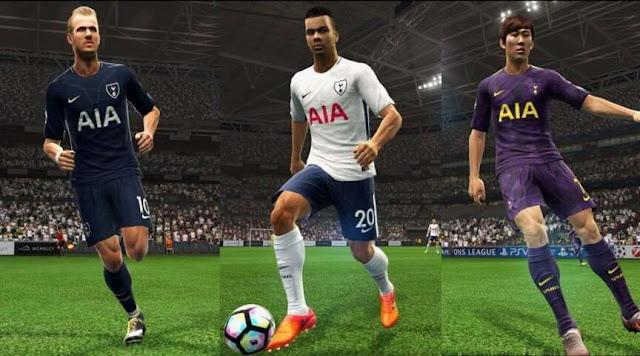 Tottenham 2017-18 Kit PES 2013