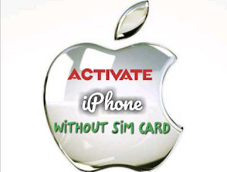 Activate iPhone without sim card