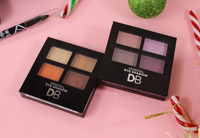 Designer Brands Mineral Eyeshadow Quads review