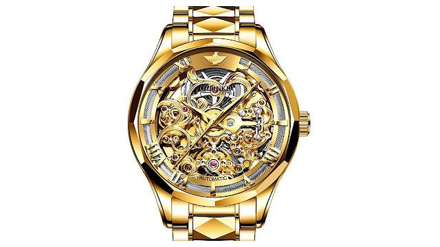 Swiss Brand Skeleton Automatic Mechanical Men Watch