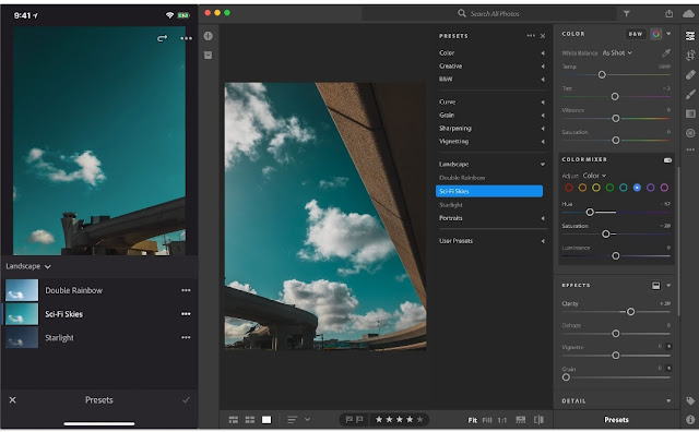 Aplikasi Edit Foto (Tren 2019) Adobe PS Lightroom Android (Adobe)