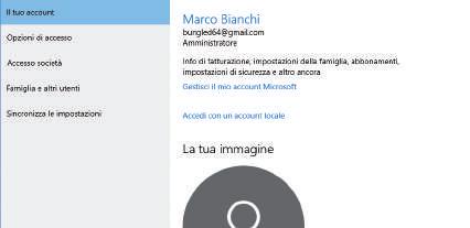 Come gestire account Microsoft su Windows 10