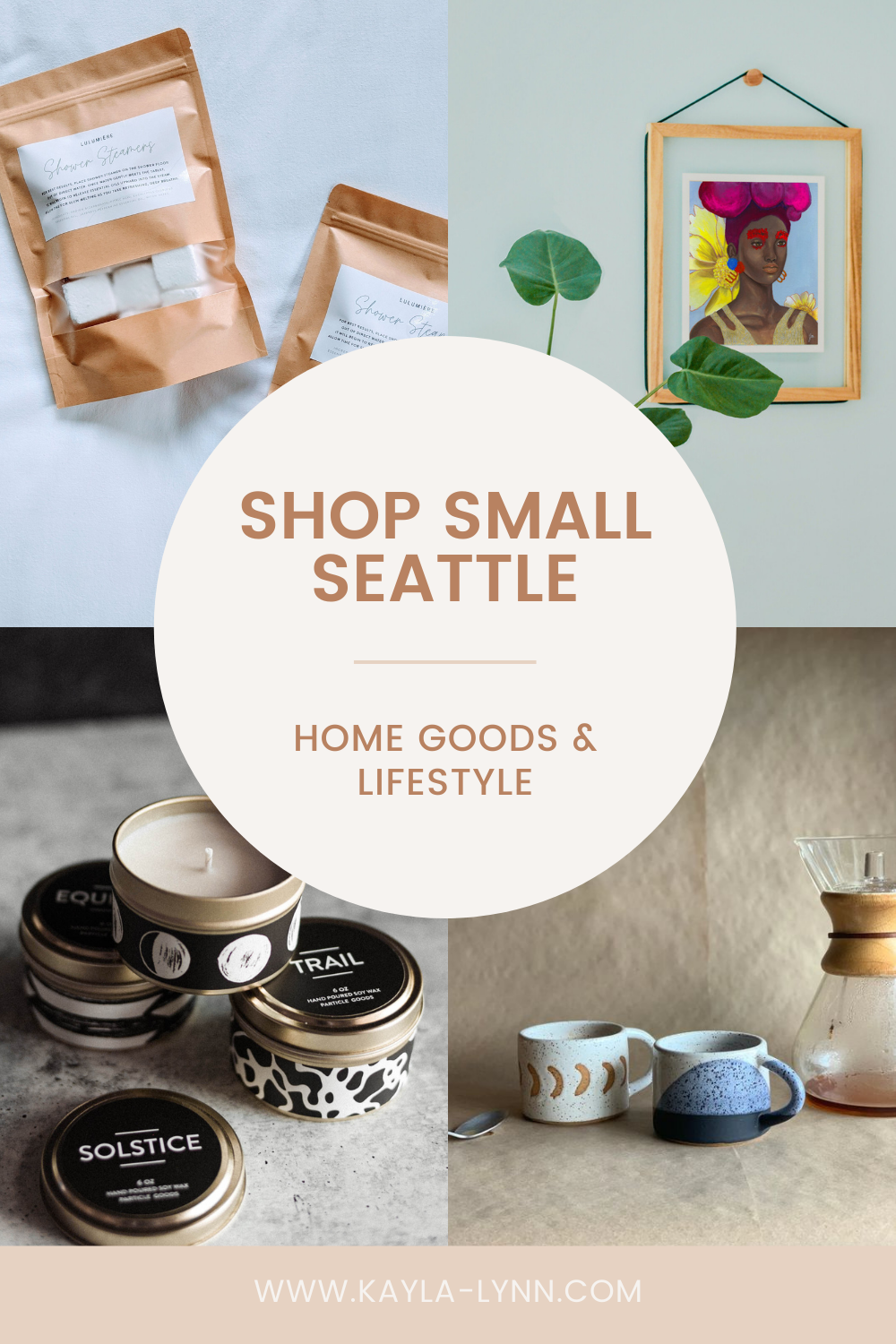 Shop Small Seattle Home Goods & Lifestyle Pinterest image