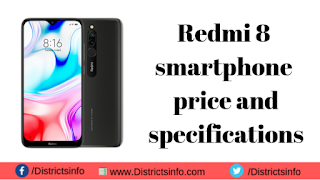 Redmi 8 Smartphone Price and Specifications