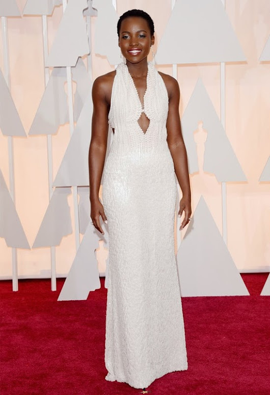 2015 Academy Awards Arrivals: Lupita Nyong'o in Calvin Klein Collection