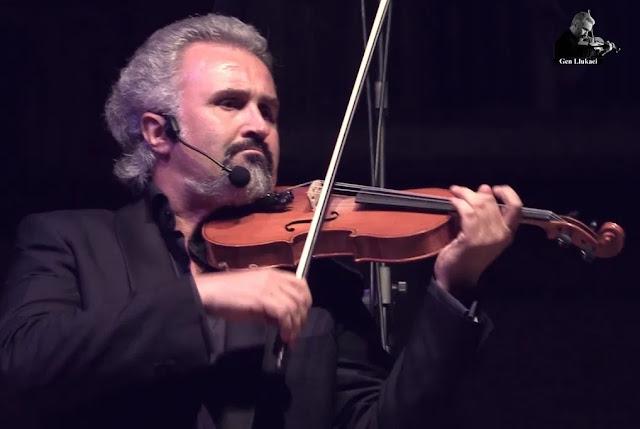 Il violinista Gentjan Llukaci parte del concerto a Manocalzati il 4 luglio