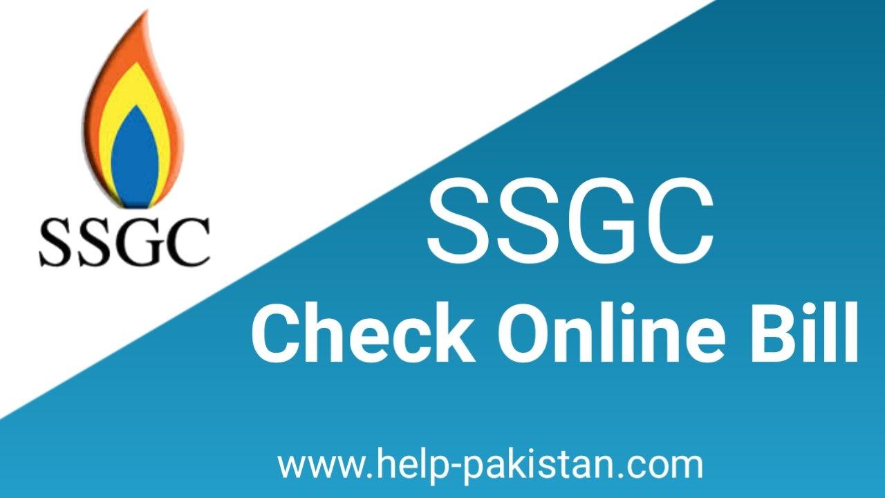 ssgc online bill
