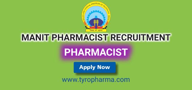 manit recruitment, manit pharmacist recruitment, 2019, manit-bhopal, manit job vacancy, maulana azad national institute of technology