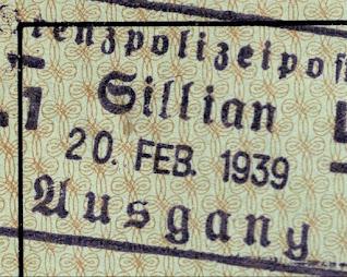 Closeup of Passport Border Stamp