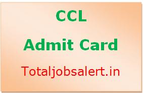 CCL Admit Card