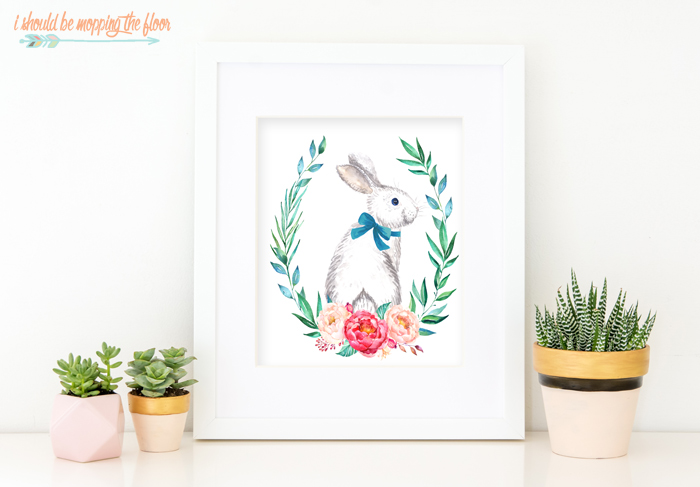 Free Watercolor Bunny Printables