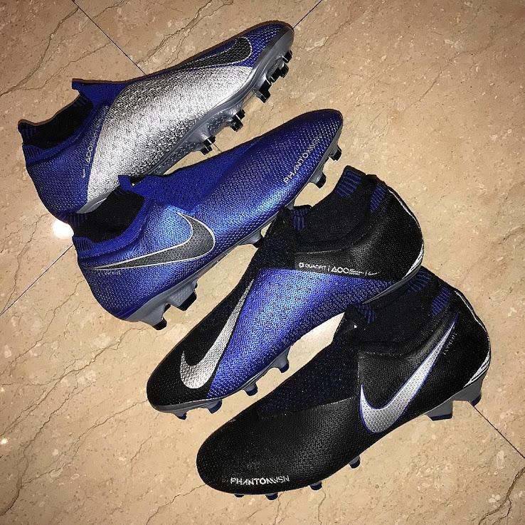 pick up sale retailer new authentic Blau / Schwarz / Silberne Nike Phantom Vision 2018-2019 ...