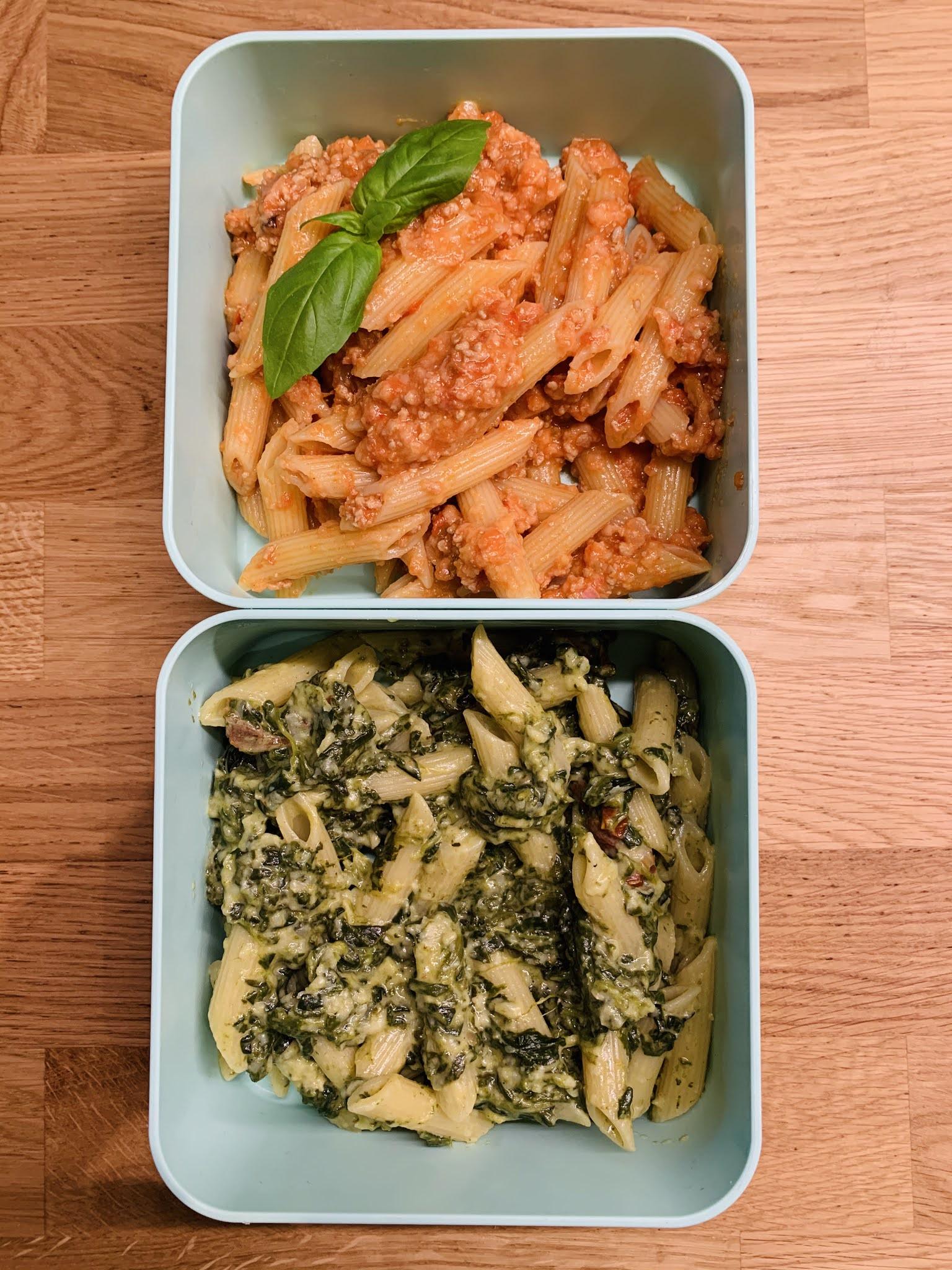 Dwie makaronowe obiadówki