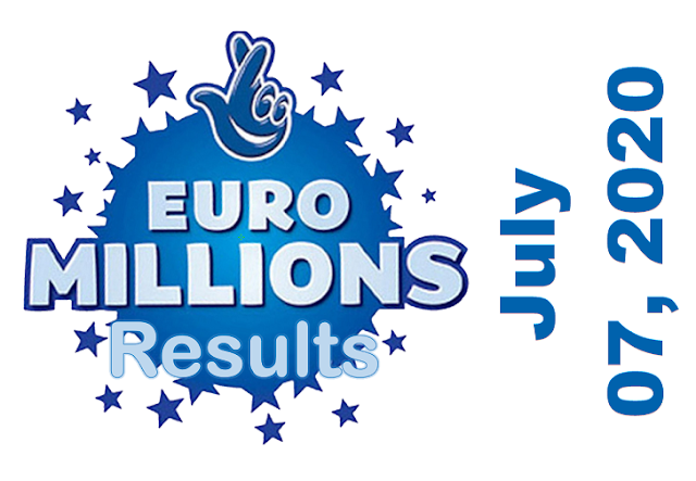 EuroMillions Results for Tuesday, July 07, 2020