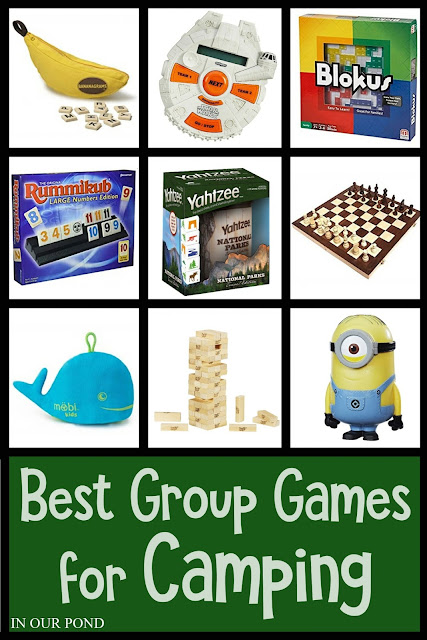 The Best Group Games for Camping // In Our Pond // card games // tile games // active games // outdoor // camping // camping games // memorial day weekend // 4th of july // labor day weekend