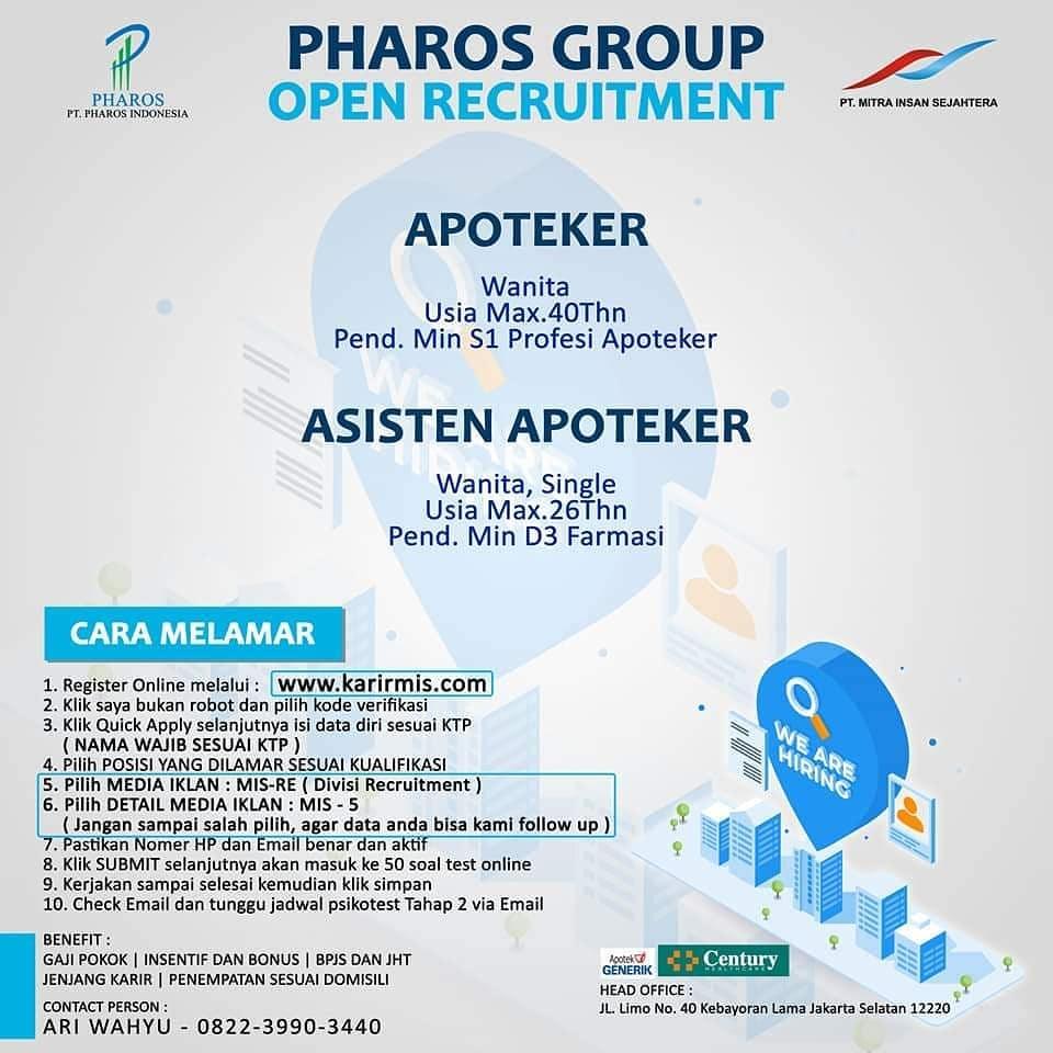 Loker Apoteker Pharos Group