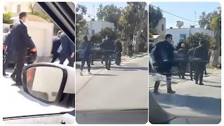 (بالفيديو) رئيس الجمهورية قيس سعيد يتمشى في شارع رفقة عدد من اعوان الأمن الرئاسي ويلتقي بالعديد من المواطنين