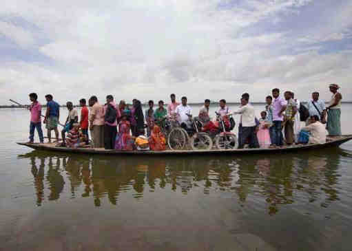 Dhubri has been hit by Flood
