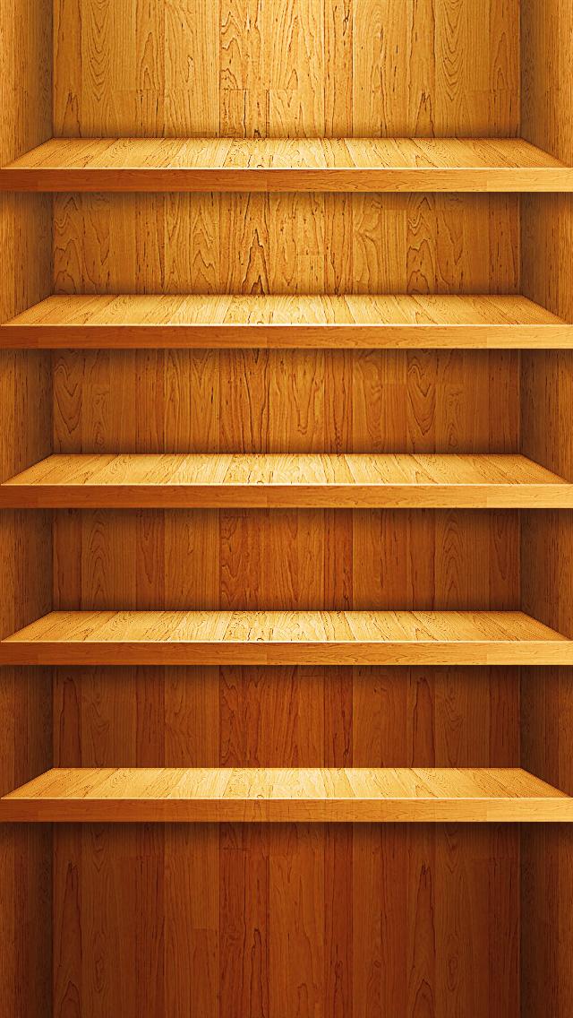 Wood Shelf Wallpaper IPhone 5