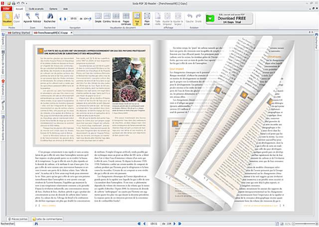 """برنامج """"Soda PDF 3D Reader"""" لقراءة الكتب الإلكترونية بتقنية 3D"""