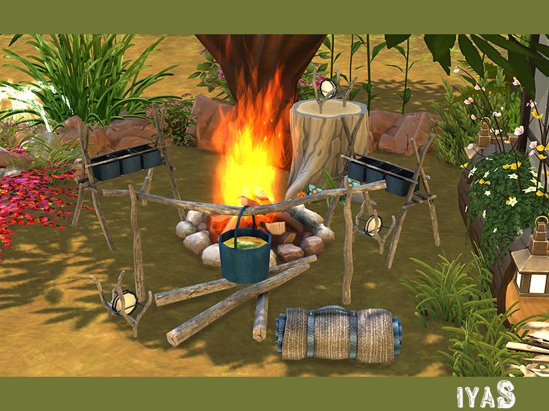 Soloriya Camping Set Sims 4