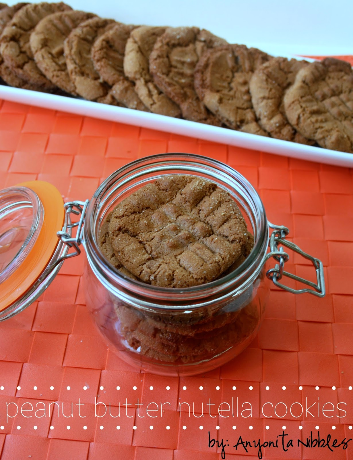 Peanut Butter Nutella Cookies | Anyonita Nibbles