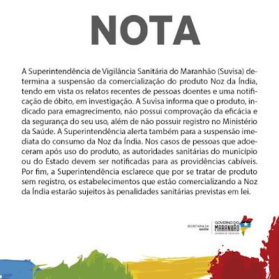 Vigilância Sanitária proíbe venda de Noz da Índia no Maranhão