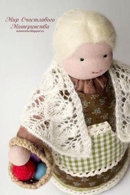 кукла настольная бабушка