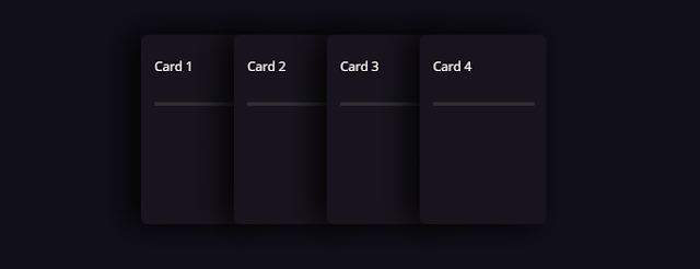 سلايدر أفقي بطاقات