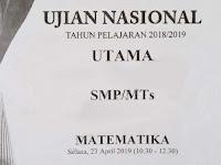 Pembahasan Soal UN Matematika SMP Tahun 2019