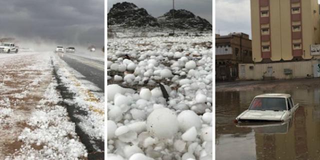 Hujan Batu Melanda Madinah, Penduduk Lari Bersembunyi