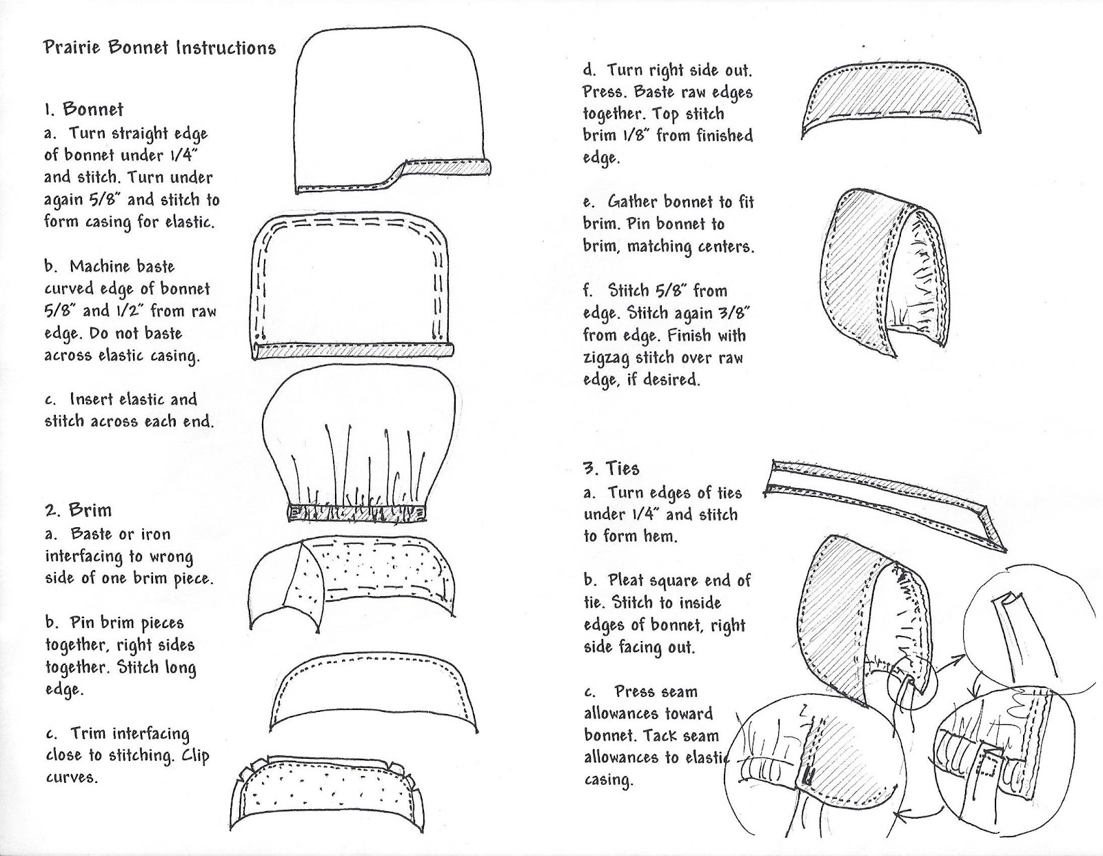 Little House Club Online Instructions To Make Your Own Bonnet