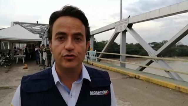 FRONTERA: Director de Migración Colombia revisó flujo migratorio por Arauca proveniente de Apure-Venezuela.