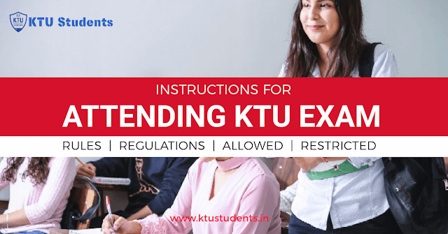 ktu exam rules and instructions malpractices debarring