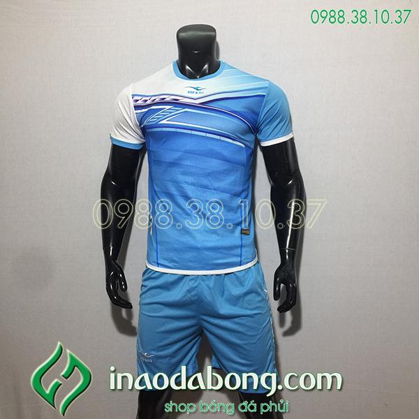 Áo bóng đá kp logo KeepFly PVĐ màu xanh ngọc