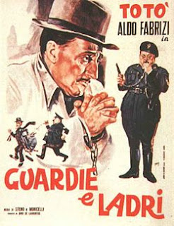 The movie poster for Guardie e ladri (Cops and Robbers), which Toto felt was his best film