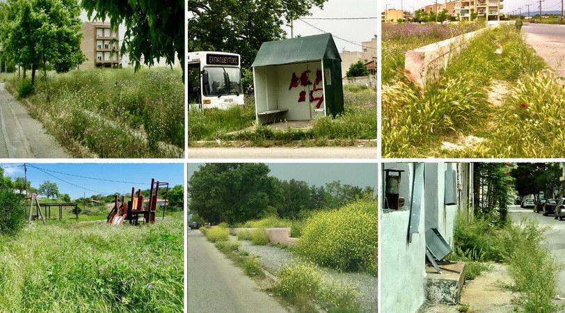 Εικόνες εγκατάλειψης σε Αλεξανδρούπολη, Φέρες, Τραϊανούπολη - Καλύφθηκαν από τα χόρτα πεζοδρόμια και πάρκα