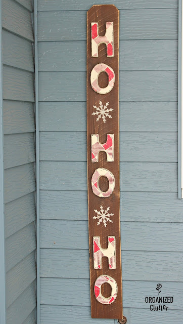 Thrift Shop Wooden Letters to Christmas Sign#Christmasjunkfavs  #sign #stencil #oldsignstencils #rusticChristmas #buffalocheck