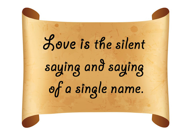 Love is the silent