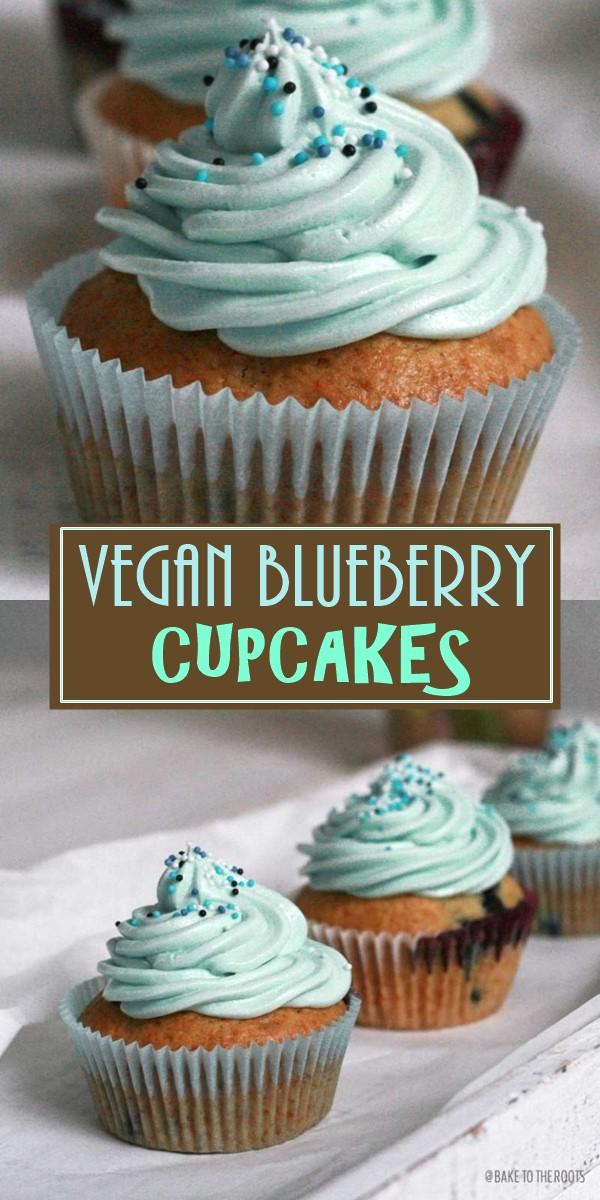 VEGAN BLUEBERRY CUPCAKES #Cupcakesrecipes