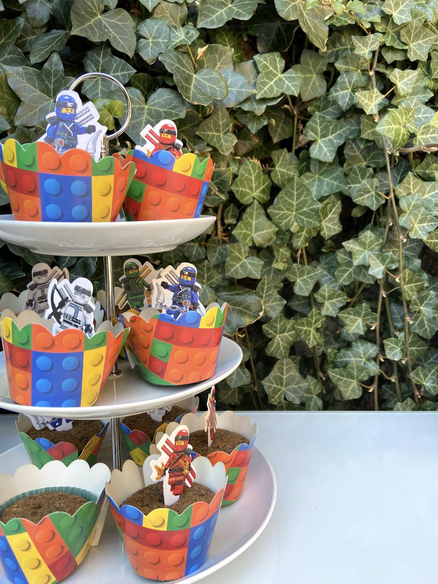 ninjago party cupcakes diy lego