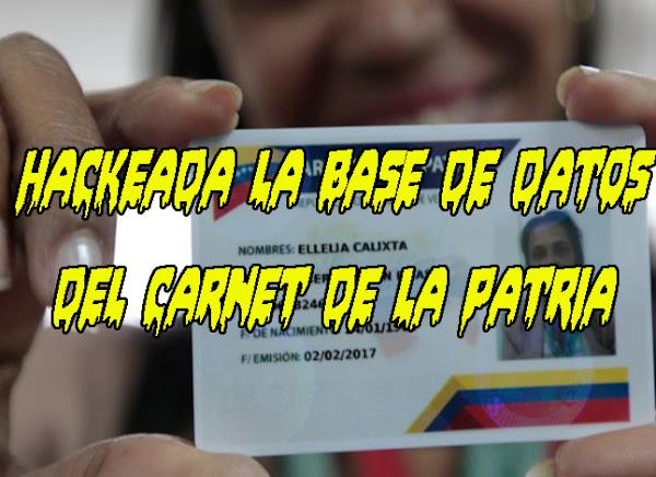 Hackeada base de datos del Carnet de la Patria