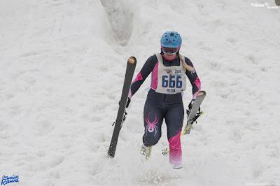 Zieleinlauf Extremskirennen St. Anton