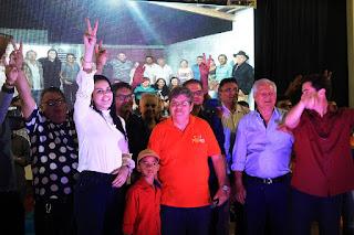 Com presença de grande público e várias lideranças políticas Rafaela Camaraense lançou Pré-candidatura em Cuité