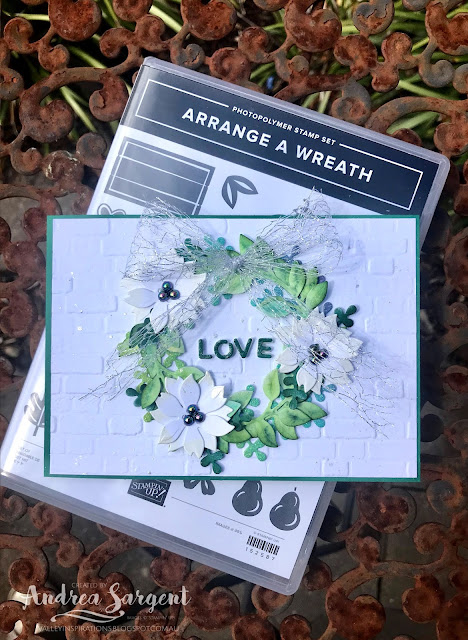 Garden Green Arrange A Wreath & Peaceful Boughs Stampin Up cards, Andrea Sargent, Valley Inspirations, Independent Stampin' Up! Demonstrator, Adelaide, South Australia
