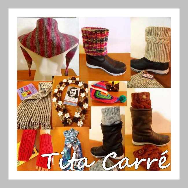 Cachecol, Boots Cuffs, luvas e  Meias