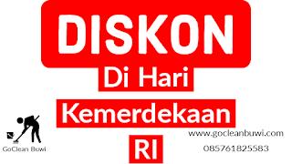 GoClean Buwi DISKON di Hari Kemerdekaan RI khusus Kota Tangerang
