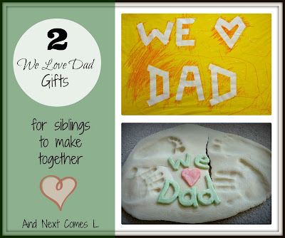 2 Father's Day gifts that siblings can make together from And Next Comes L